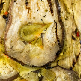 Padlizsán, pácolt, grillezve, napraforgóolajban, VIVERI 1 kg