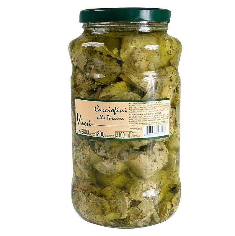 Articsóka, negyedelve - Alla Toscana, fűszerezve,  2,8 kg
