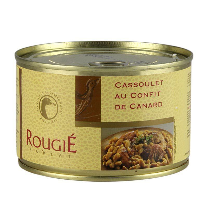 Kacsa Cassoulet, fehér babbal és finom kacsa hússal, Rougié 420 g