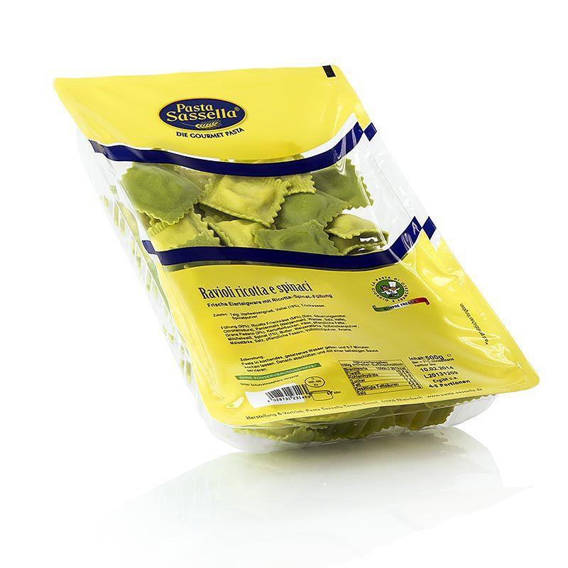 SASSELLA - friss Ravioli / Panzerotti ricotta és spenót töltelékkel, 500 g