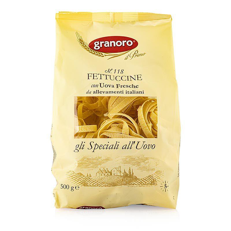 Granoro Fettuccine tojással, széles szalagos tésztafészek, No.118 (500 g)