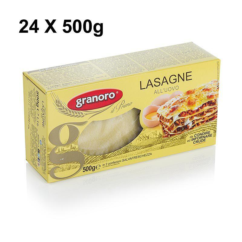 Granoro Lasagne tojással, 82 x 60 x 1 mm, No.120.  (6 kg, 12 x 500g)