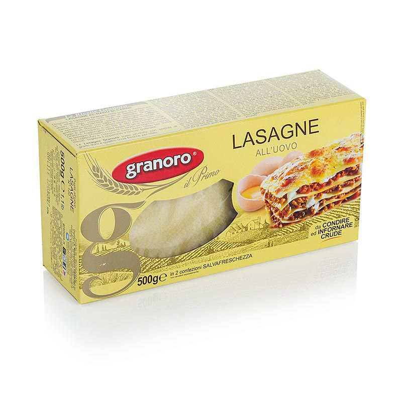 Granoro Lasagne tojással, 82 x 60 x 1 mm, No.120. (500 g)