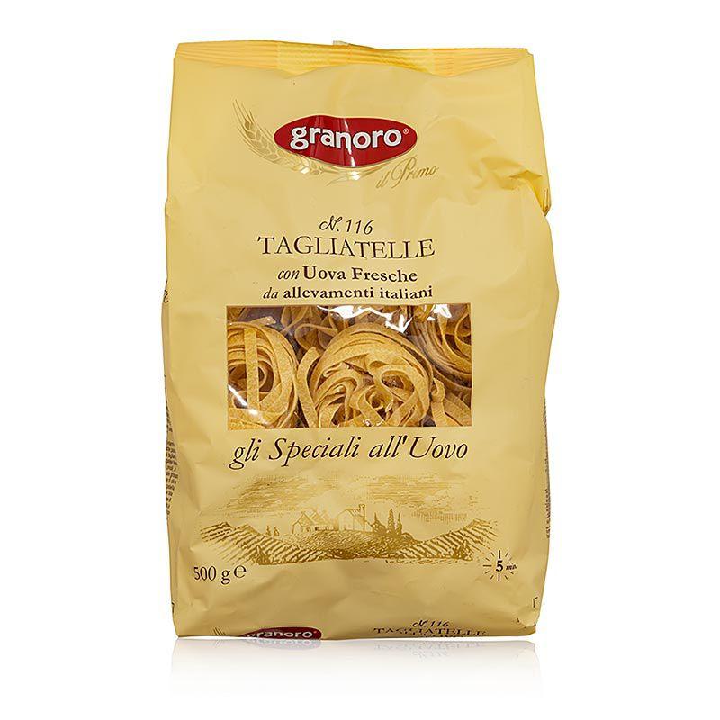 Granoro Tagliatelle tojással, 6 mm, szalagos tésztafészek, No.116  (500 g)