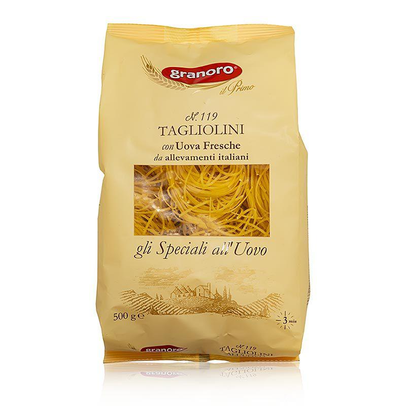 Granoro Tagliolini tojással, 2 mm, szalagos tésztafészek, No.119  (500 g)