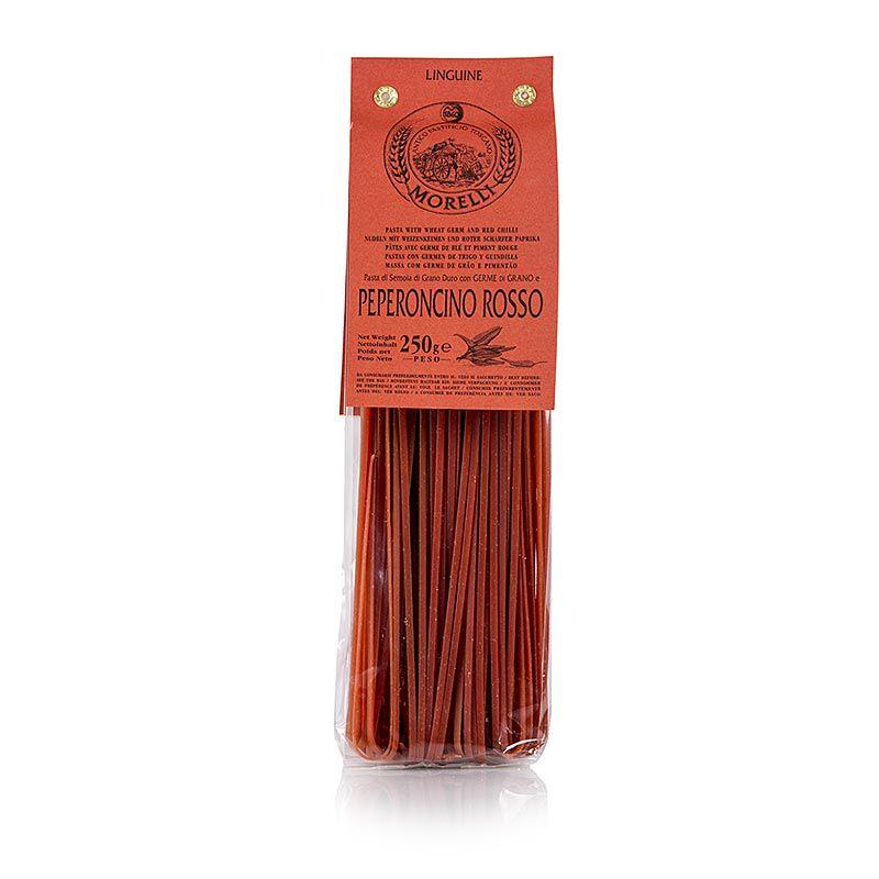Morelli 1860 Linguine, vörös chilivel és búzacsírával 250 g