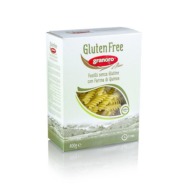 Granoro Fusilli, Quinoával, gluténmentes Spiráltészta, No. 473   (4,8 kg, 12 x 400 g)