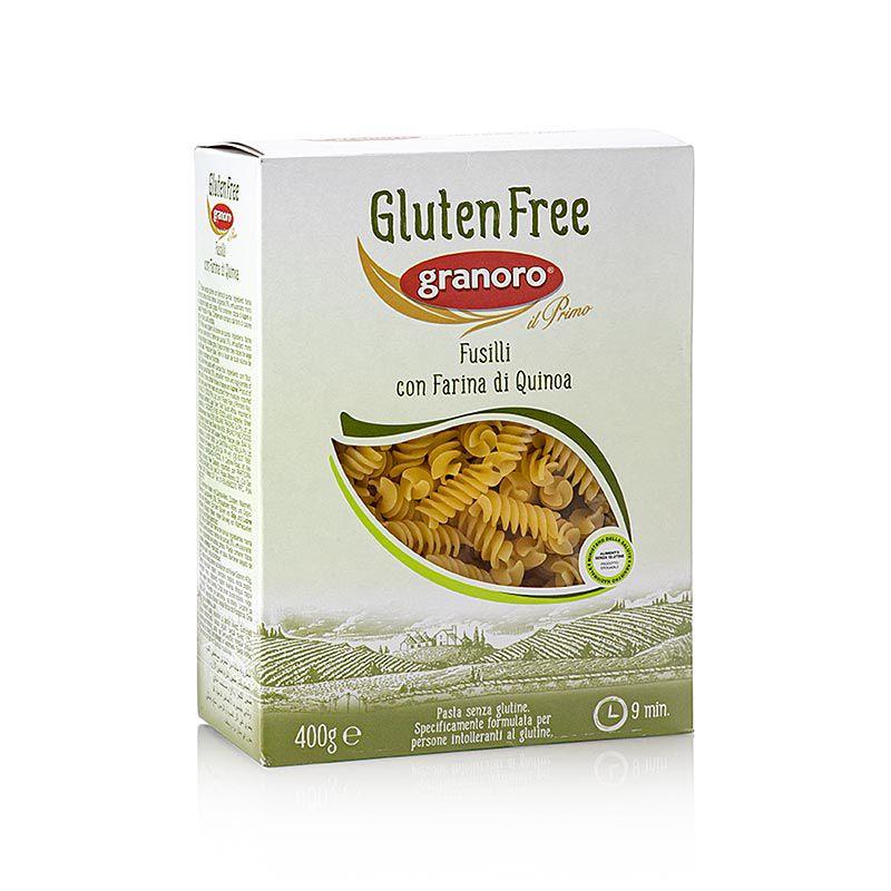 Granoro Fusilli, Quinoával, gluténmentes Spiráltészta, No. 473  (400 g)