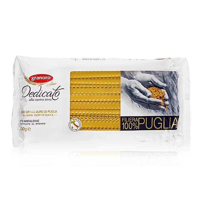 Granoro Dedicato - Mafaldine, hullámos szalagos tészta (10 mm), No.5.  500 g