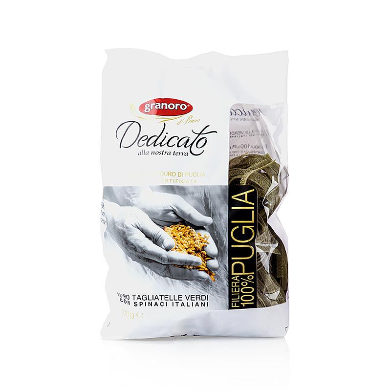 Granoro Dedicato - Tagliatelle Nidi Spinaci, No.80, Szalagos tésztafészkek 500 g