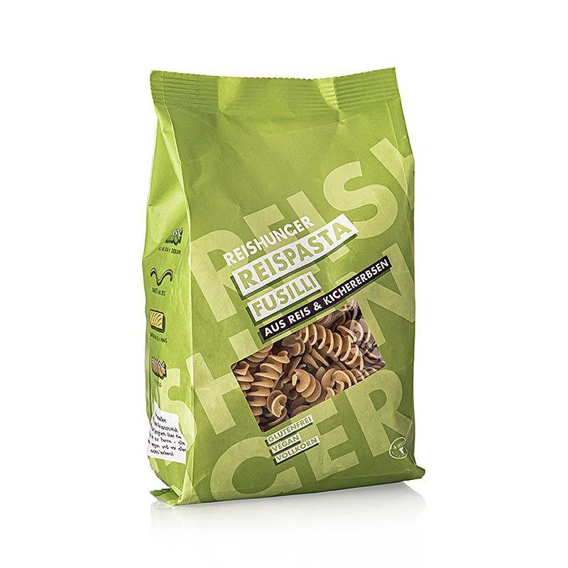 Rizstészta - Fusilli, Csicseriborsó & Rizs, Reishunger, 240 g