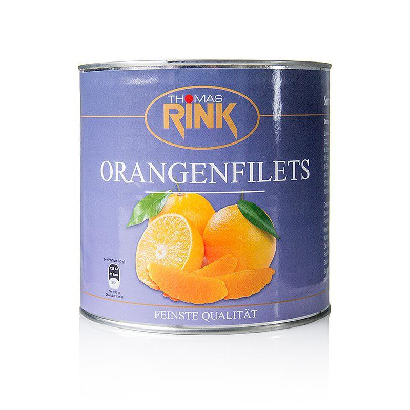 Narancs filé - kalibrált, enyhe szirupban, RINK, 2,65 kg