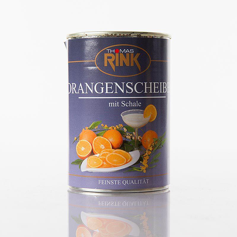 Narancsszeletek héjjal, szirupban  RINK, 410 g