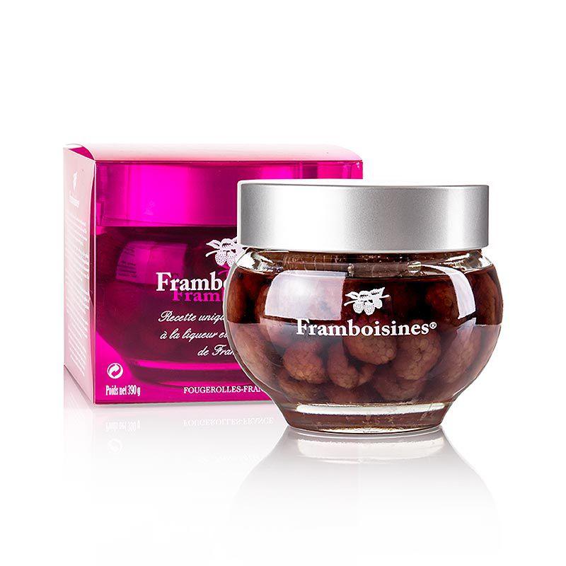 Framboisines - savanyított málna málnalikőrben & málnapárlatban 15% . 390 g