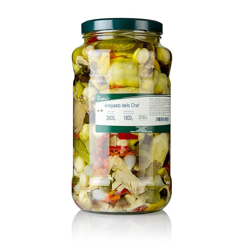 Pácolt vegyes Antipasti - Dello Chef, napraforgóolajban VIVERI,  2,9 kg