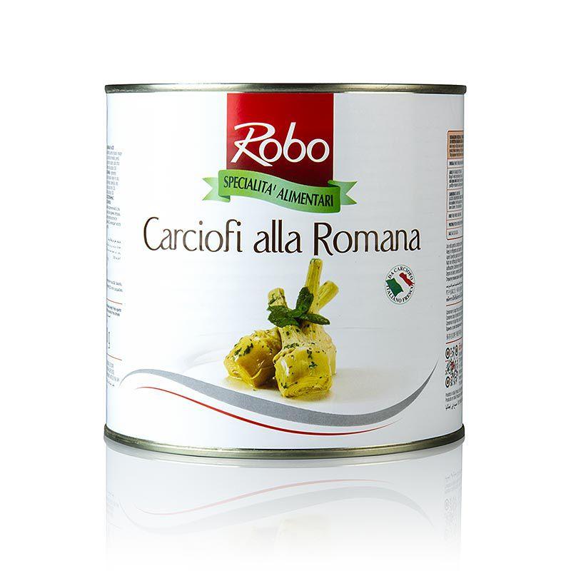 Articsóka, alla Romana, szárral, olajban 2,4 kg