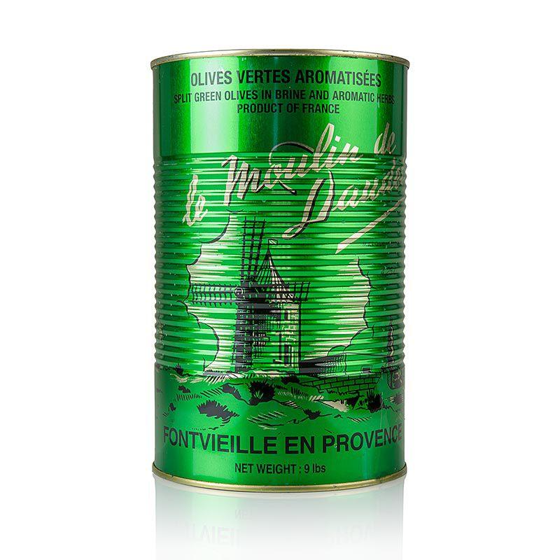 Olajbogyó zöld, maggal, provence-i fűszerekkel, ARNAUD,  4,3 kg