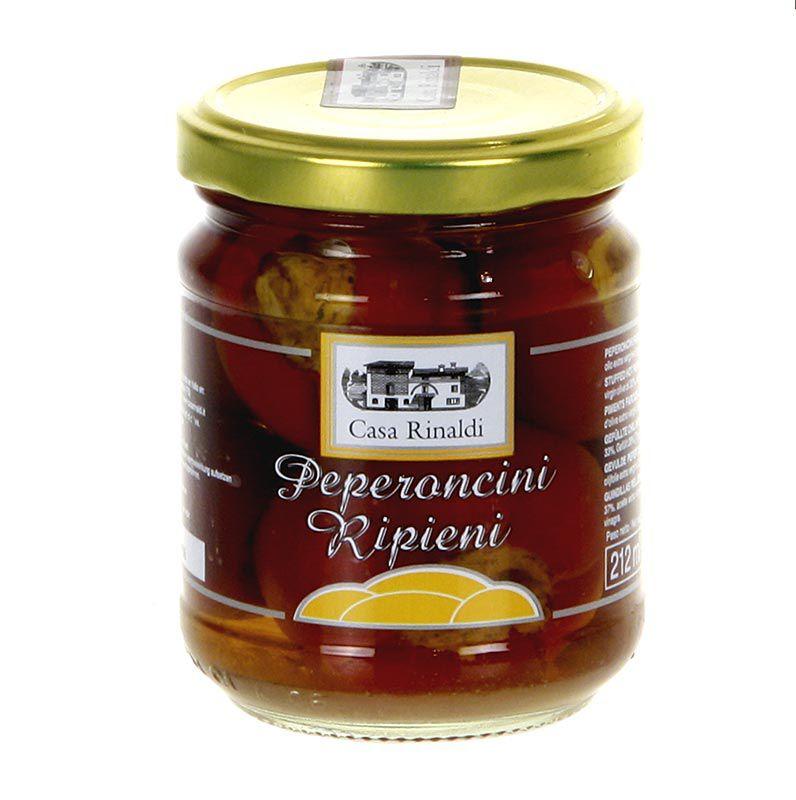Pácolt töltött peperoncini, cseresznyepaprika tonhalkrémmel, Casa Rinaldi,  190 g