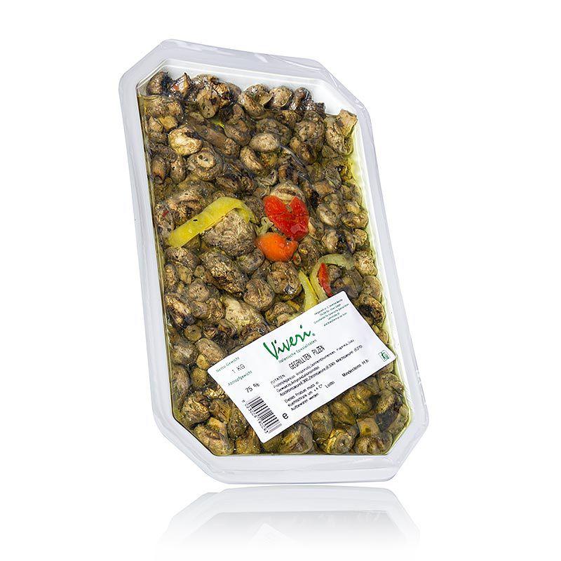 Champignons (Gomba) grillezve, napraforgóolajban, VIVERI,  1 kg