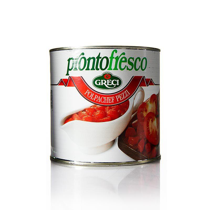 "Kockára vágott paradicsom Polpachef Pezzi "", Prontofresco 2,5 kg"""