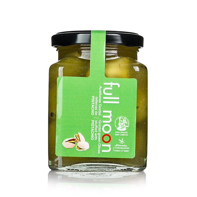Gordal olajbogyó zöld, mag nélkül, pisztáciával, San Carlos Gourmet 300 g