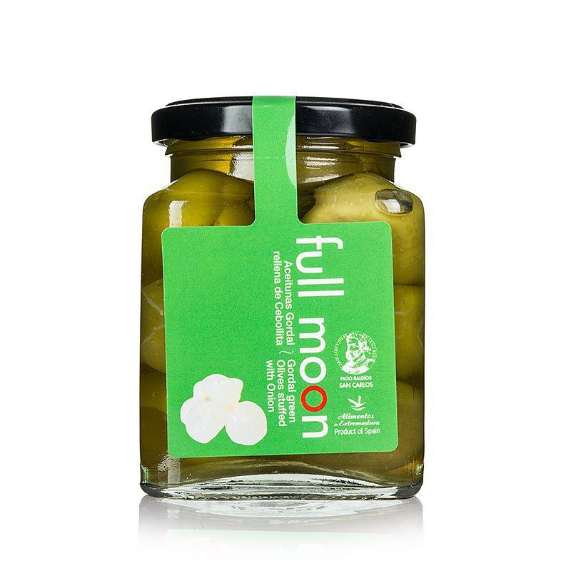 Gordal olajbogyó zöld, mag nélkül, hagymával, San Carlos Gourmet 300 g