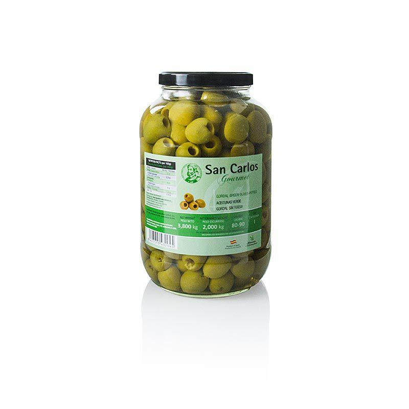Olajbogyó zöld, magozott, Gordal, San Carlos Gourmet, 3,8 kg