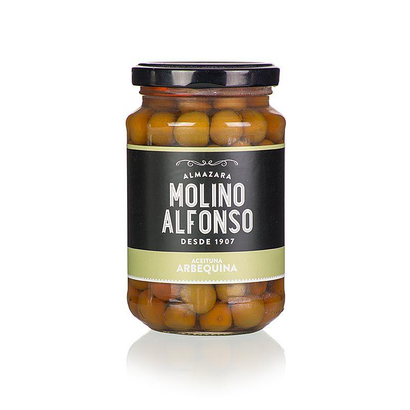 Olajbogyó, maggal, Arbequina, sós lében, Molino Alfonso  355 g