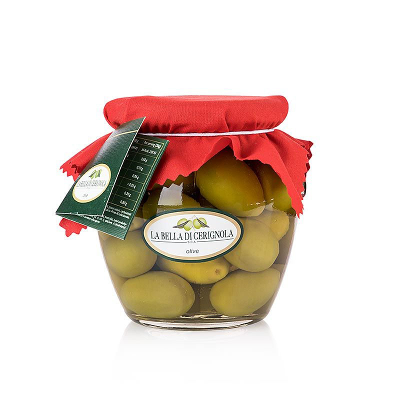 "Olajbogyó zöld, Bella della Daunia "", maggal, sós lében, Apulia,  580 g"""