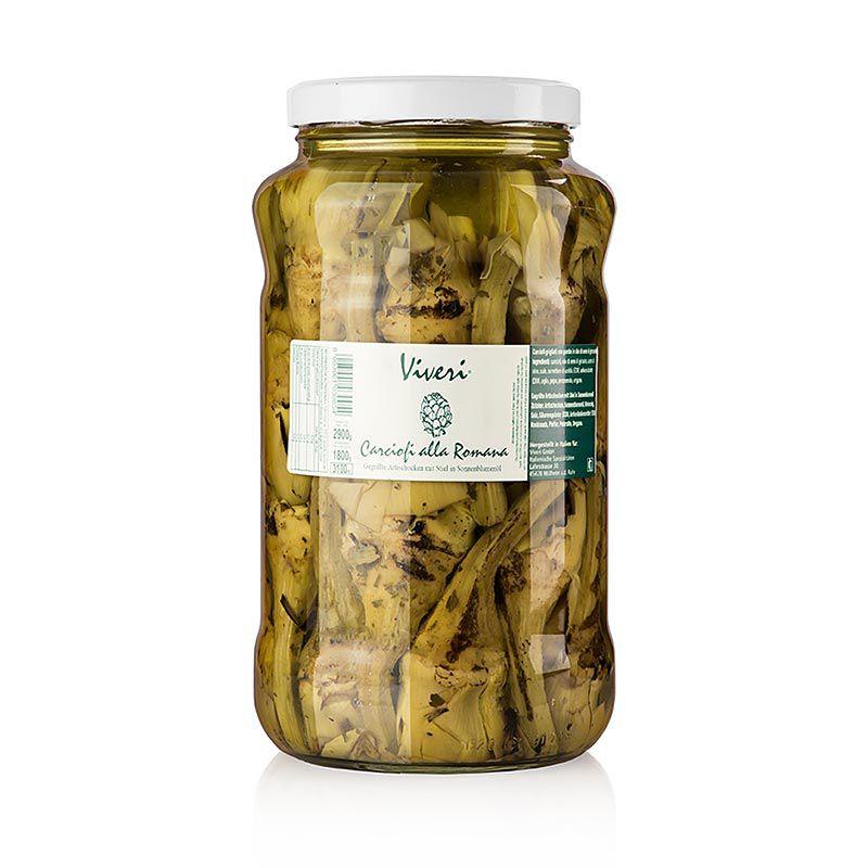 Articsóka Romana, nyéllel, grillezve, olajban, VIVERI,  2,9 kg