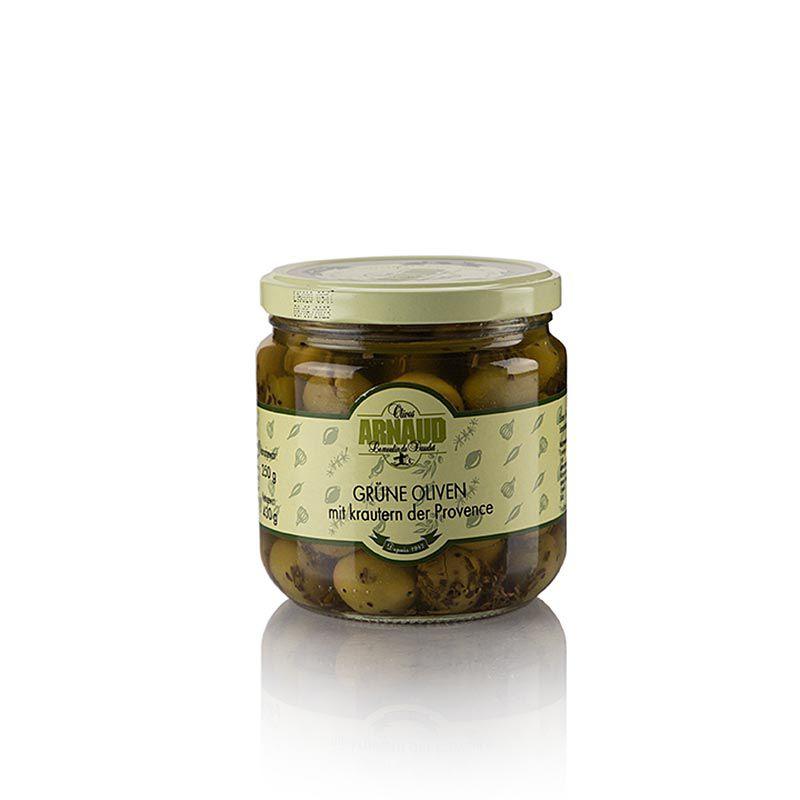 Olajbogyó zöld, maggal, provence-i fűszerekkel, ARNAUD, 430 g