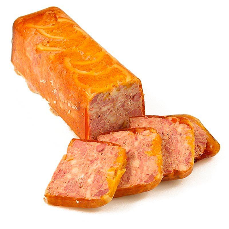 Terrine kacsahúsból, naranccsal, Rougié 1 kg