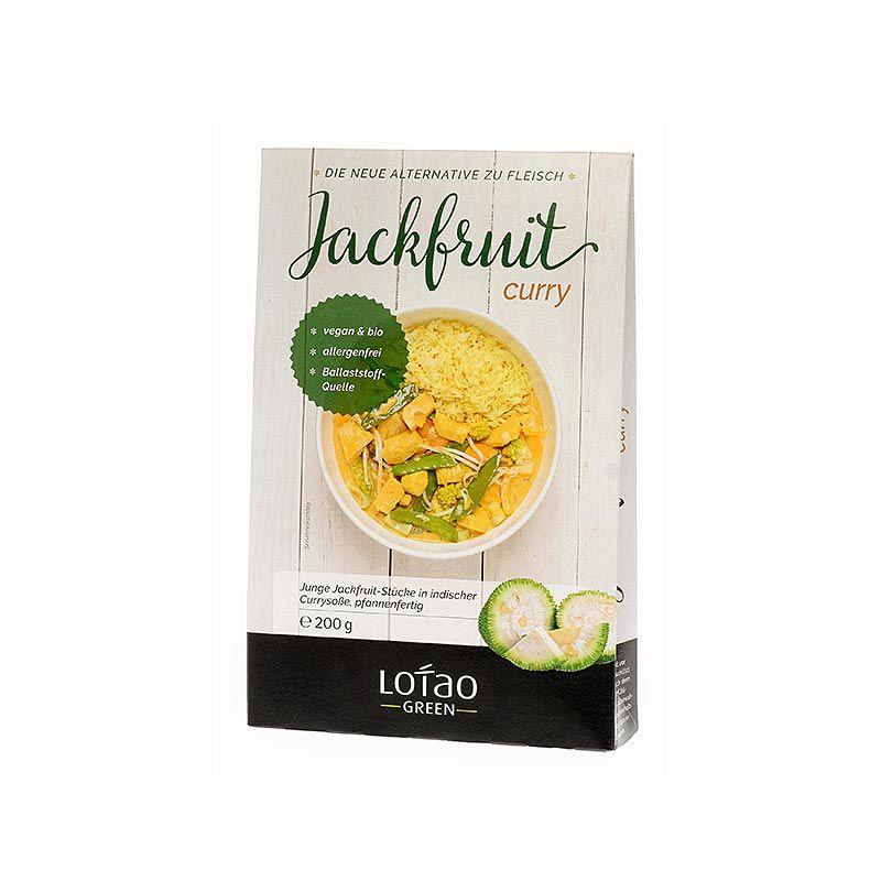 Jackfruit , Curry, kockára vágott, vegan, Lotao, BIO 200 g