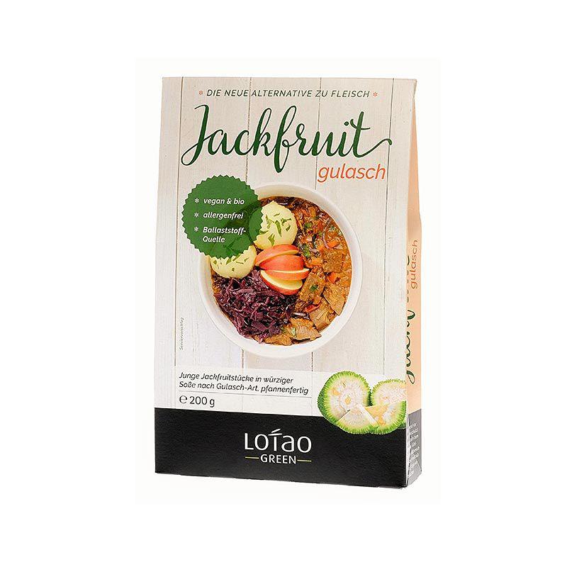Jackfruit Pép, gulyás, kockára vágva, vegán, Lotao, BIO 200 g